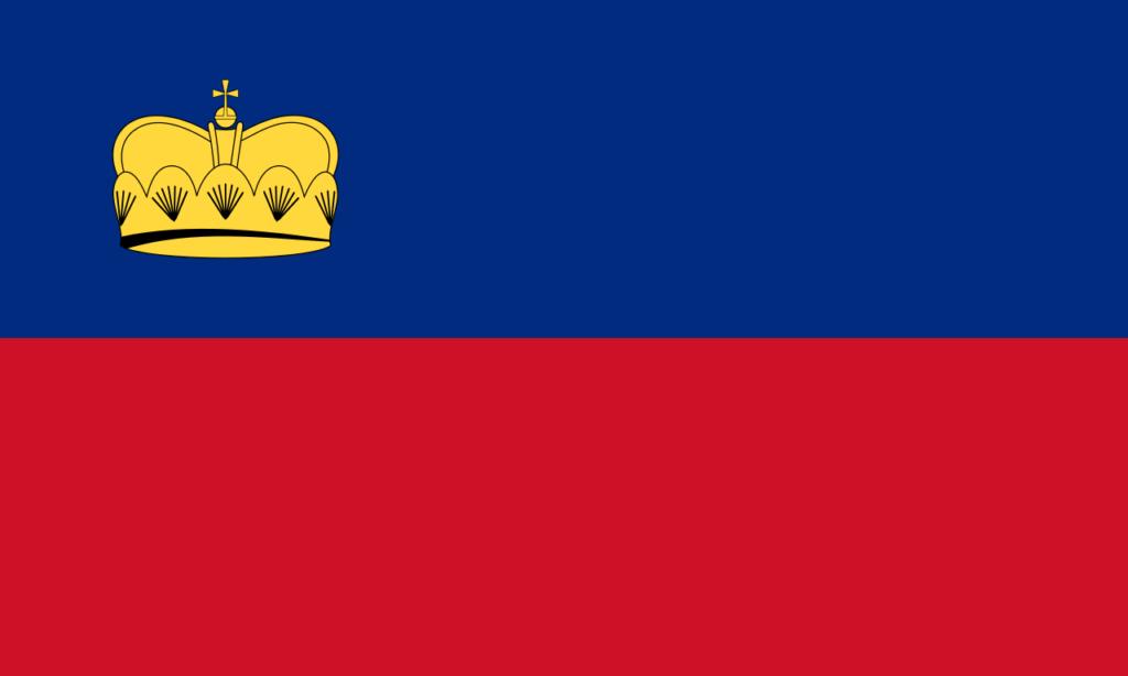 флаг лихтенштейна-4