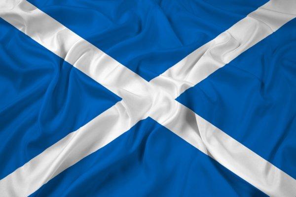 как выглядит флаг шотландии