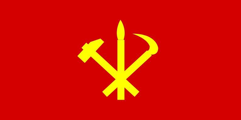 флаг кндр северной кореи